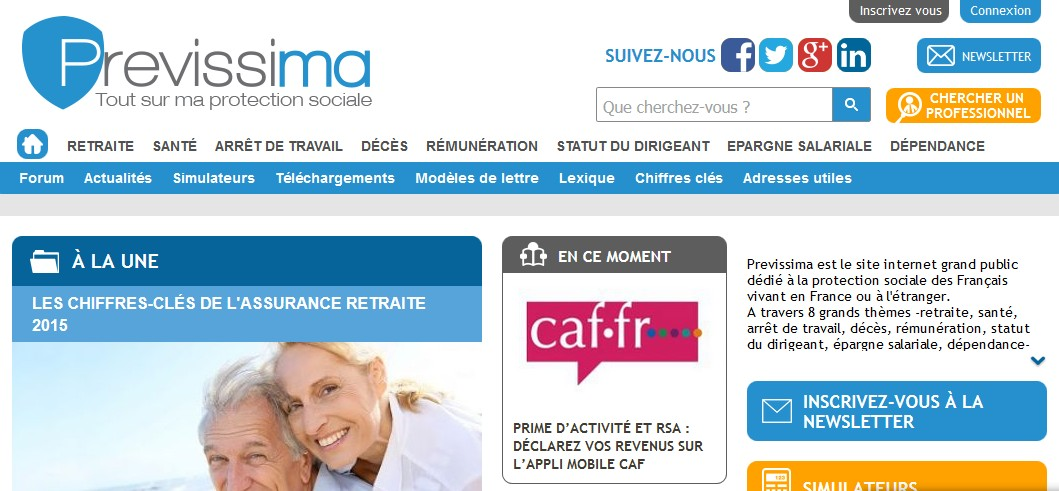 Previssima, le site web pour tout savoir sur la protection sociale